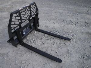 Bobcat Skid Steer Attachment Bradco 48 5 500 Pound Pallet Forks Ship 199