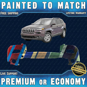 New Painted To Match Upper Front Bumper Cover For 2014 2018 Jeep Cherokee New