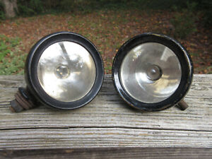 Antique 2 Lucas King Of The Road 3 5 8 Driving Lights Cowl Lights