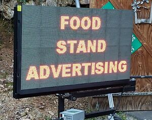 Outdoor Digital Full Color Led Sign Wifi 53 X 32 W Show Stand Mobile Adhitch