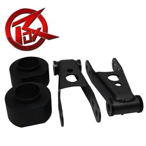3 Front Spring Spacers 2 Rear Shackles Lift Kit For 1984 2001 Jeep Cherokee Xj