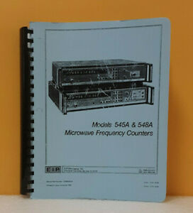 Eip Microwave Inc 545a 548a 5580033 00 Microwave Frequency Counters Manual