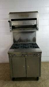 Southbend P32c bbb Heavy Duty 6 Burner W broiler Nat Gas Cabinet Base Tested