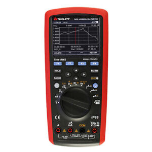 Triplett 9065 Trms Ac dc Digital Multimeter Data Logging Cat Iv 600v