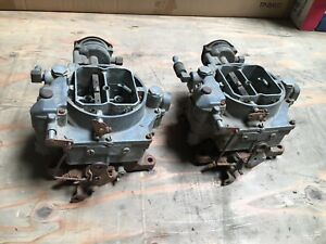 1956 1957 Chevrolet Corvette Clone Carter Wcfb Carburetors Carb Dual Quad