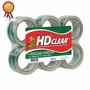 Duck Hd Clear Heavy Duty Packing Tape Refill 1 Roll 1 88 Inch X 54 6 Yard 4