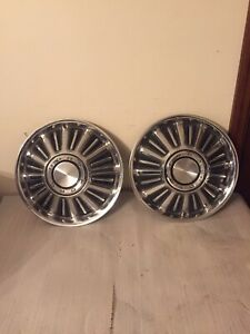 2 1967 Oem Ford Fairlane 14 Hubcaps Wheel Covers