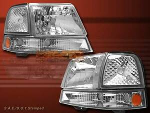 1998 1999 2000 Ford Ranger Clear Headlights Clear Corner Signal Lights Combo