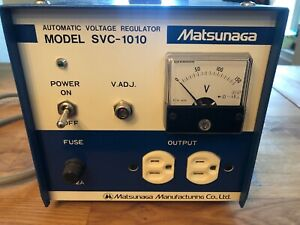 Matsunaga Stavol Svc 1010 Automatic Voltage Regulator Industrial Power Supply