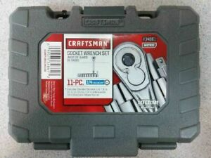 Craftsman 11 Pc 6 Point 1 4 Inch Drive Standard Metric Socket Wrench Set Case