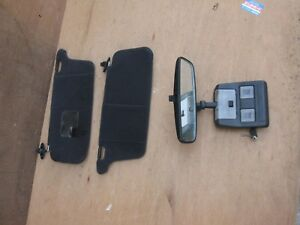 Jdm Mazda Rx7 Rx 7 Fc3s Sun Visors With Rear View Mirror Oem