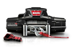 Warn Industries Zeon 10 Platinum 10000lb Winch W wire Rope Roller