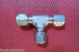 Ssp Griplok 1 4 Tube Od Union Tee t Compression Fitting 316 Stainless Steel