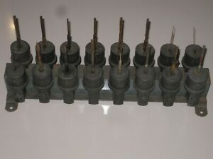 Lot Of 16 Sunnen Hone Mandrels Adapters Spindles With Rack 1