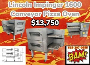 Lincoln Impinger Conveyor Double Stack Pizza Gas Oven 1600 32 Conveyor
