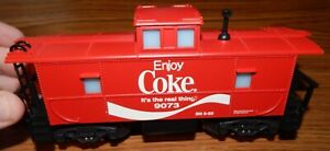 K-LINE 9073 COCA COLA COKE LIGHTED CABOOSE USED O SCALE NO BOX VERY NICE LQQK