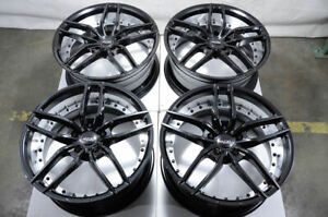 19x8 5 Black Wheels Fits Mercedes Volkswagen Beetle Cc Eos Golf Gti Jetta Rims