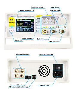 Fy6900 60mhz Dual Ch Dds Function Signal Generator Vco Frequency Sweeper Counter