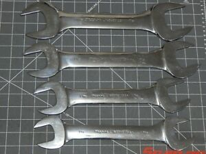 4pc Snap On Large Low Torque Wrench Set 1 1 4 1 2 5 8 11 16 1 7 8 Thin Slimline