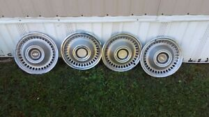 1964 Chevrolet Hub Caps 14 Set 4 Chevy Wheel Covers Hubcaps 64 Bow Tie Vintage