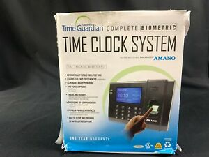Amano Fpt 80 Biometric Time Clock Employee Time Tracking System Fingerprint pin