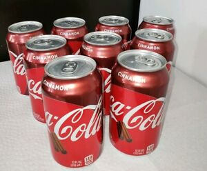 NEW! 9 cans COCA COLA CINNAMON limited edition 12oz (355ml)   FAST SHIPPING!!!