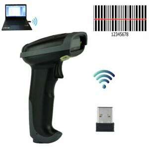 Automatic Wireless 2 4ghz Laser Barcode Scanner Gun Reader Wifi Cordless For Pos