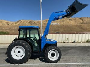New holland Tn75d 4x4 Ac Loader Low Hours New Tires California Tractor