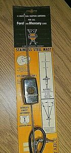 Vintage Ward W Ford 1 Antenna For All Ford Mercury Cars 31 Mast 72 Cable