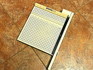 Boston 2612 Guillotine Paper Cutter trimmer With 12 Table