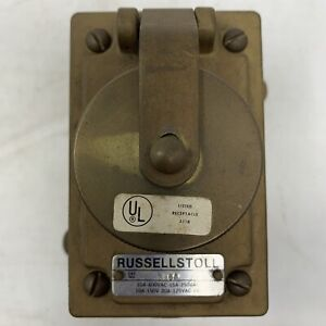 Russell Stoll 3764 Brass Bronze Receptacle New Old Stock