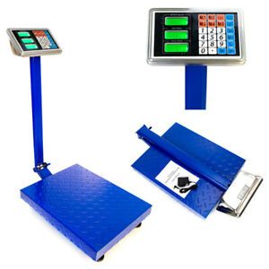 600lb 300kg Weight Price Scale Digital Floor Platform Shipping Warehouse Postal