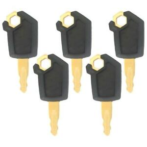 5 Heavy Equipment Key Set Ignition Keys Fits Cat Fits Caterpillar New Style 5p