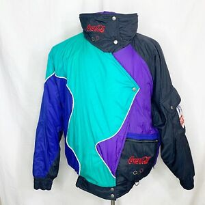 Vintage Lillehammer 1994 Winter Olympics Olympic Games Coca Cola jacket Sz L