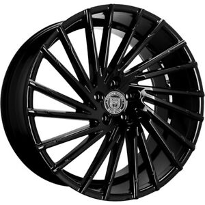 4ea 24 Lexani Wheels Wraith Gloss Black Rims s1