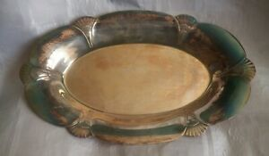 Wm Rogers Silver Tray Ep On Copper