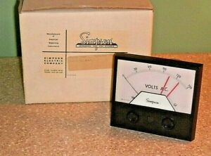 Vintage Simpson Panel Meter Model 3344 0 150 Vac Cat 21640 Dual Set Point Cont