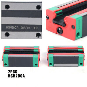 2pcs Hgh20ca Carriage Block For Linear Rail Cnc Engraving Router Us Stock