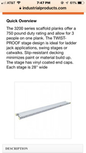 Aluminum Stage Work Plank Located In Zip 25301