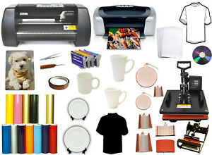 14 500g metal Vinyl Cutter Plotter 8in1combo Heat Press printer sublimation Kit