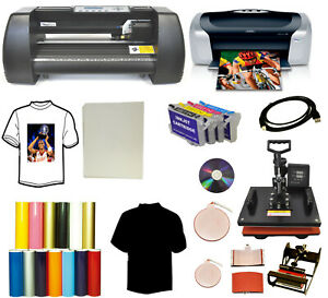 14 Laser Vinyl Cutter Plotter 5in1 Heat Press printer sublimation Tshirt Startup