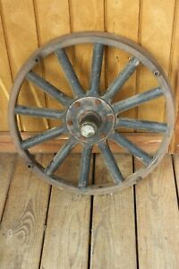 Model T Wood Spoked Wheel With Wood Outer Rim