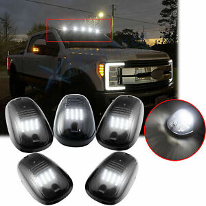 5x Smoked Lens Led Roof Lamp Rooftop Driving Lights For Ford F 150 F 250 F 350