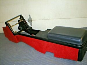 1982 92 Camaro Z28 Berlinetta Iroc Flame Red Rug Rugged Console Armrest Lid Gm