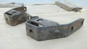 1935 1936 Ford Rear Bumper Bracket Mounts Extensions Original Pair Bolt To Frame