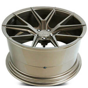 4ea 19 Staggered Verde Wheels V99 Axis Gloss Bronze Rims S1