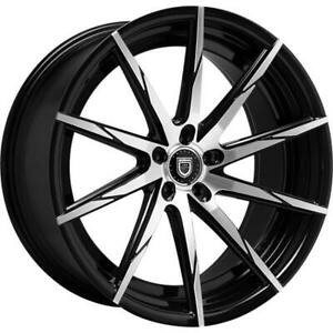 4ea 24 Lexani Wheels Css 15 Black Machined Rims s3