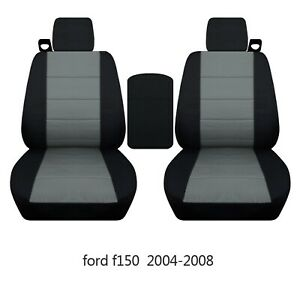 Front Set Car Seat Covers Fits Ford F150 Truck 2004 2008 Cover For Console Lid