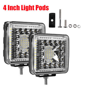 2x 860w Cree Led Work Lights Pods Spot Offroad Lamp For Atv Jeep Ute 4wd 6