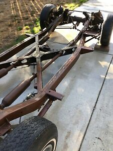 1956 Corvette Rolling Chassis Frame Calif Paper 1957 1958 1959 1960 1961 62